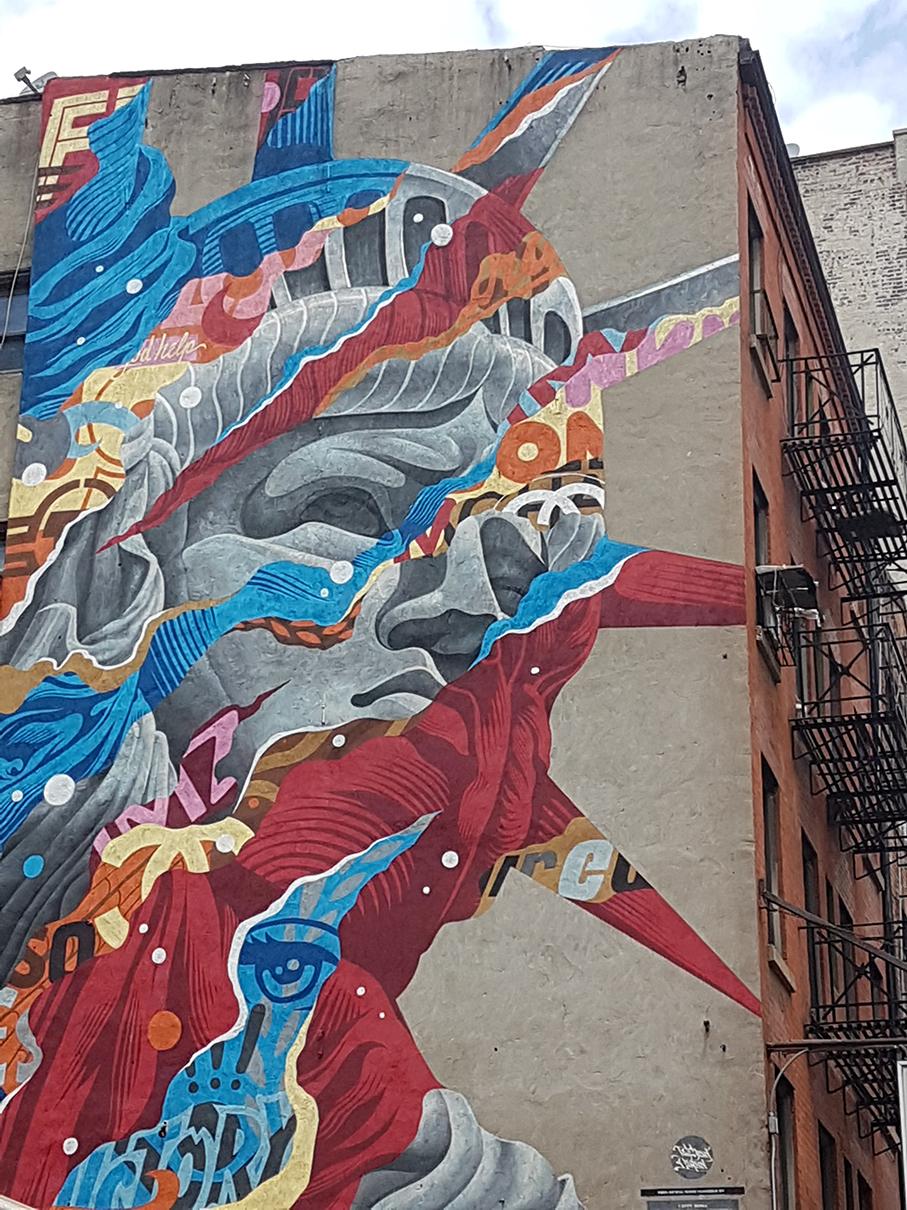 אומנות רחוב, גרפיטי בניו יורק, גרפיטי במנהטן, דרור הדדי Street art, graffiti in New York, graffiti in Manhattan, Dror Hadadi